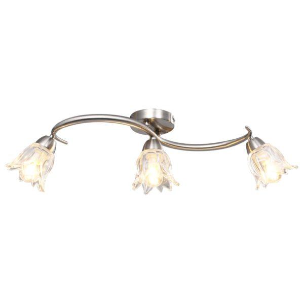 Deckenleuchte mit Glasschirmen für 3 E14 Glühlampen