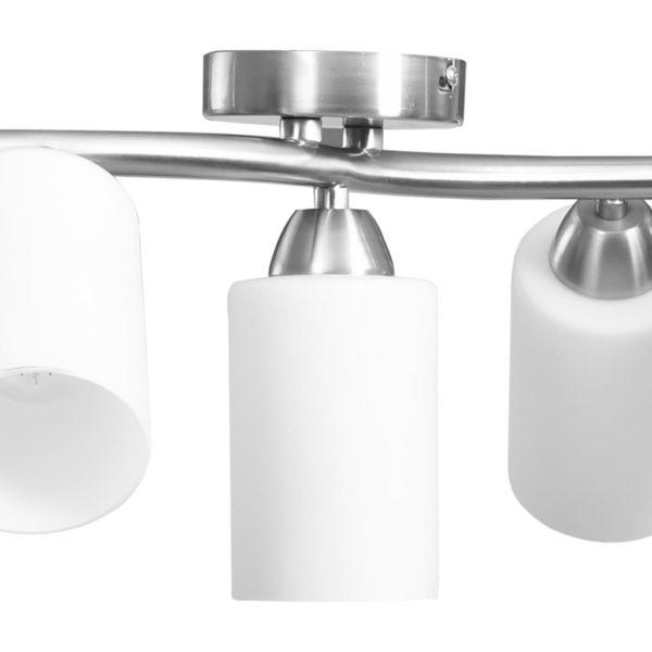 Deckenleuchte mit Keramik-Lampenschirmen für 5 E14 Glühlampen