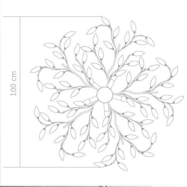 Deckenleuchte mit Acrylglas-Blätter für 5 x E14-Lampen Weiß