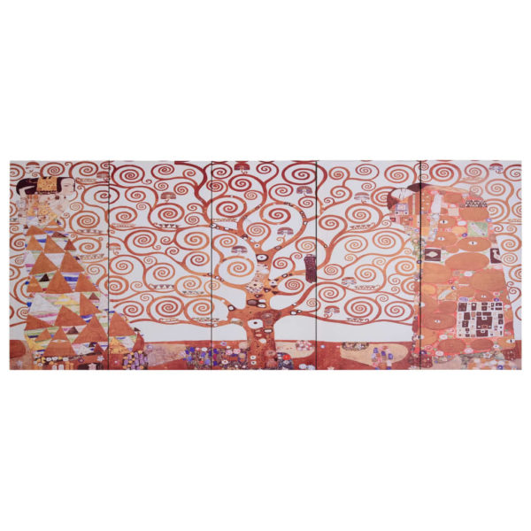 Leinwandbild-Set Baum Gelb 200 x 80 cm