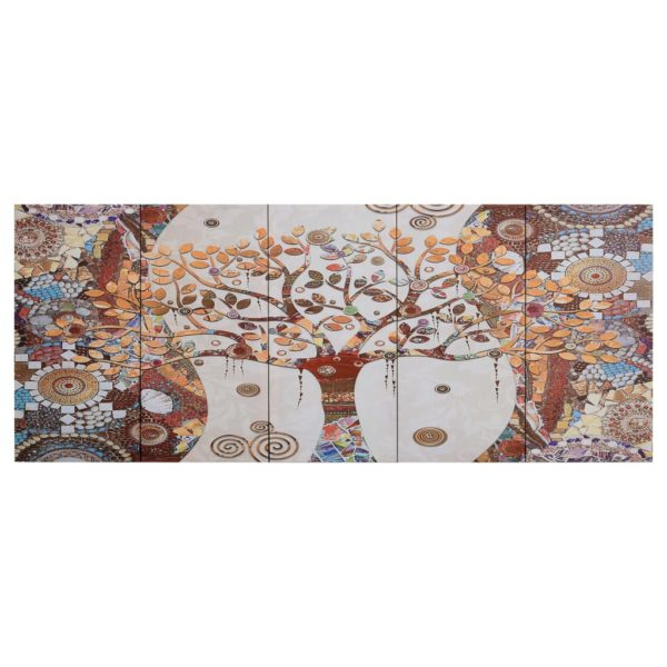 Leinwandbild-Set Baum Mehrfarbig 150 x 60 cm