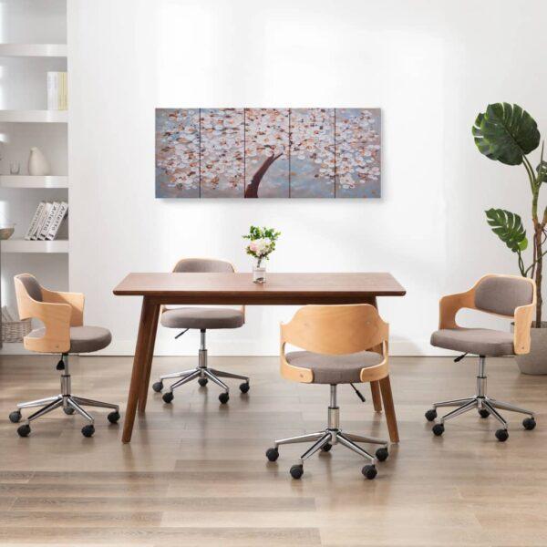 Leinwandbild-Set Blühender Baum Mehrfarbig 150×60 cm