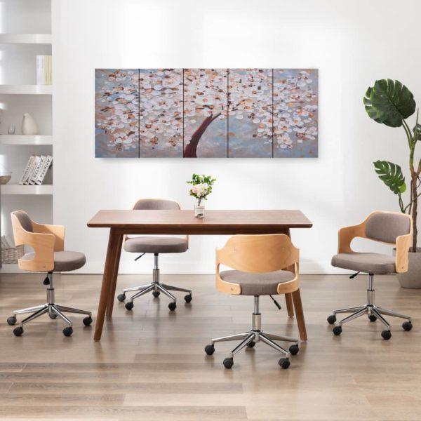 Leinwandbild-Set Blühender Baum Mehrfarbig 200×80 cm