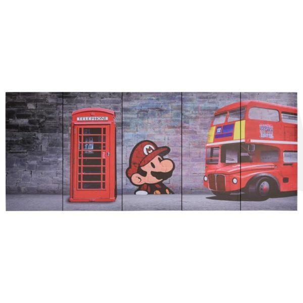 Leinwandbild-Set London Mehrfarbig 150×60 cm