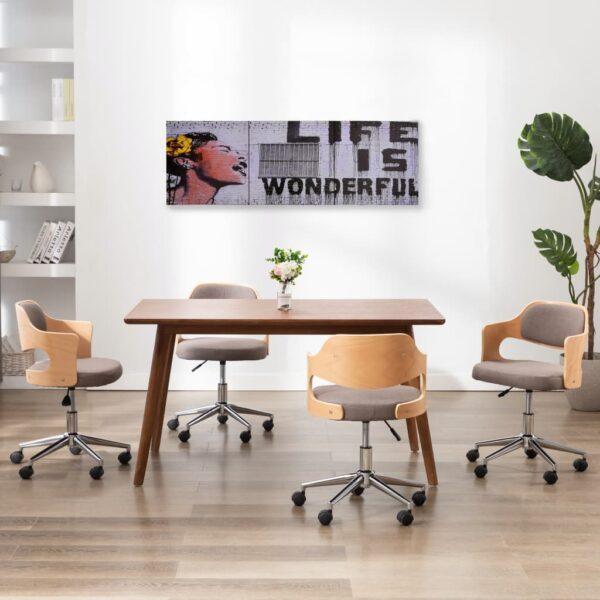 Leinwandbild-Set Wonderful Mehrfarbig 120×40 cm