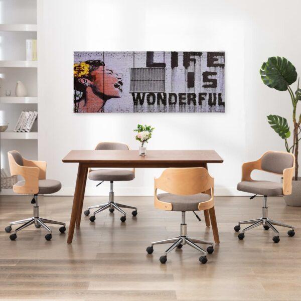 Leinwandbild-Set Wonderful Mehrfarbig 200×80 cm