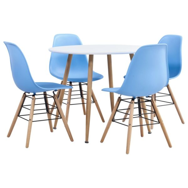 5-tlg. Essgruppe Kunststoff Blau