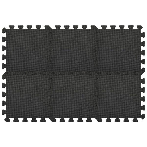 Bodenmatten 54 Stk. 4,86 ㎡ EVA-Schaumstoff Schwarz