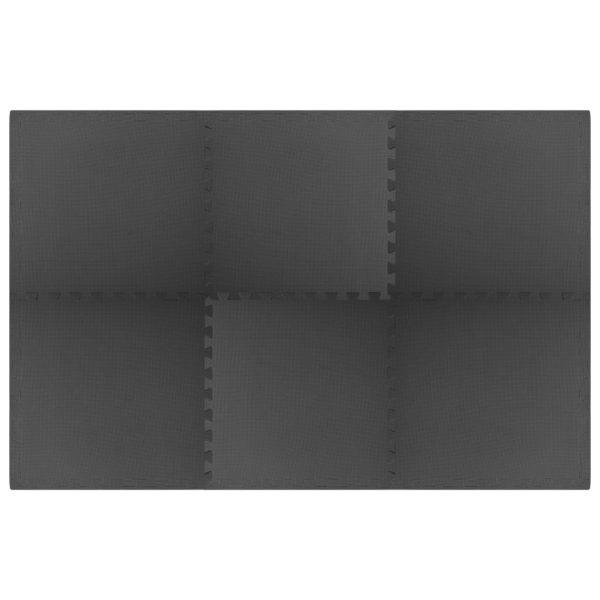Bodenmatten 6 Stk. 2,16 m² EVA-Schaum Schwarz