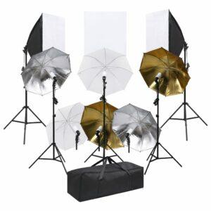 Fotostudio-Set mit Beluchtungsset und Softboxen
