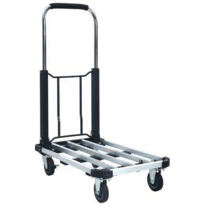 Transportwagen Klappbar 150 kg Aluminium Silbern