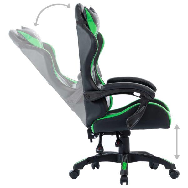 Gaming-Stuhl Grün Kunstleder