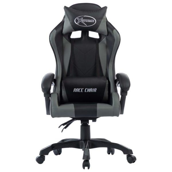 Gaming-Stuhl Grau Kunstleder