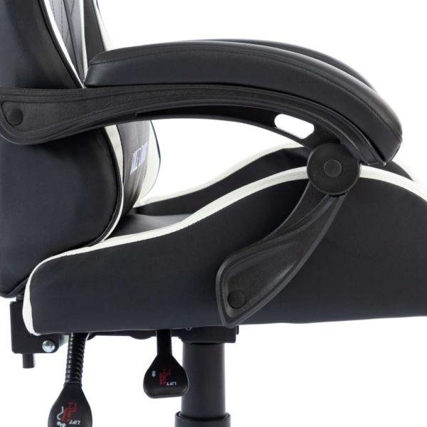 Gaming-Stuhl Weiß Kunstleder