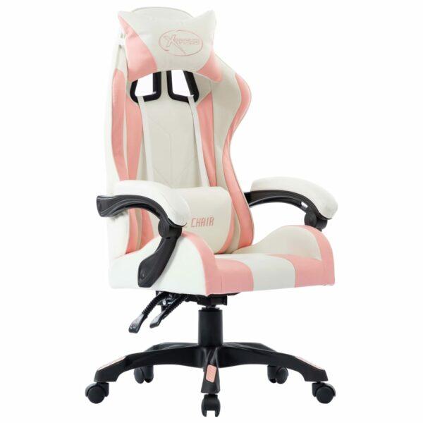 Gaming-Stuhl Rosa Kunstleder