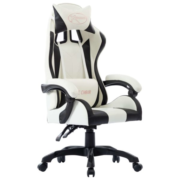 Gaming-Stuhl Schwarz Kunstleder