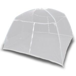 Campingzelt 200×120×130 cm Fiberglas Weiß
