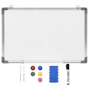Magnetisches Whiteboard Weiß 60 x 40 cm Stahl