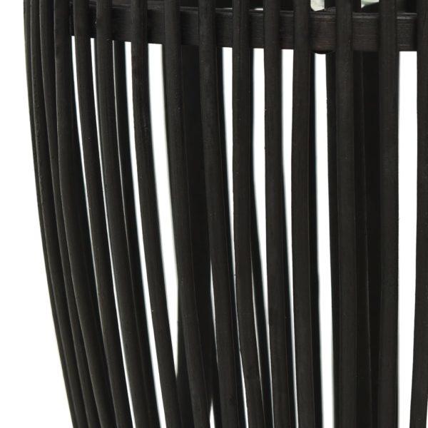 Pendelleuchte Schwarz Weide 40W 23×55 cm Oval E27