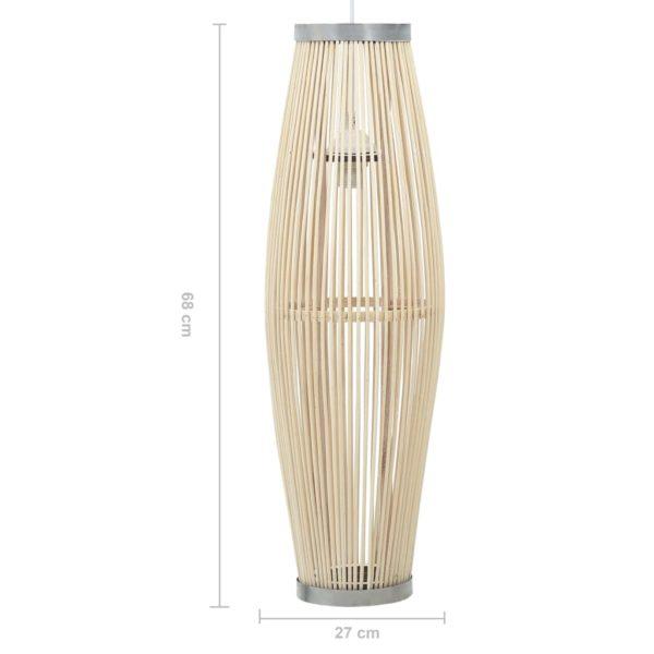 Pendelleuchte Weiß Weide 40W 27×68 cm Oval E27