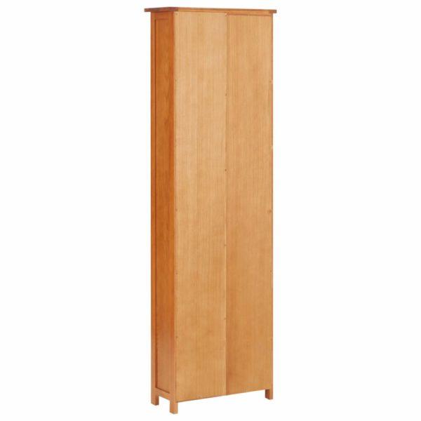 Bücherregal Schmal 52×22,5×170 cm Eiche Massivholz und MDF