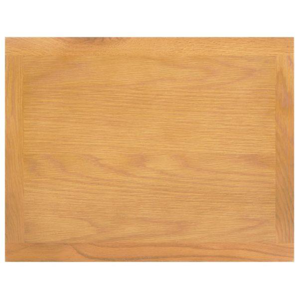 Zeitungstisch 45×35×55 cm Eiche Massivholz und MDF