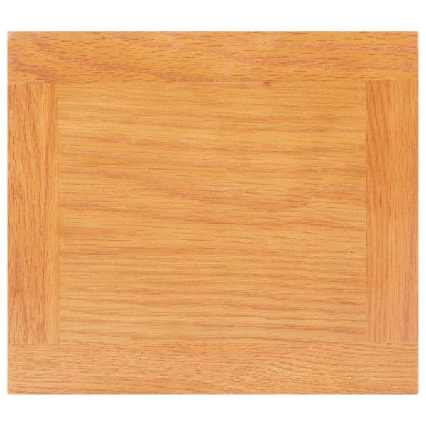 Beistelltisch 27 x 24 x 55 cm Eiche Massivholz und MDF