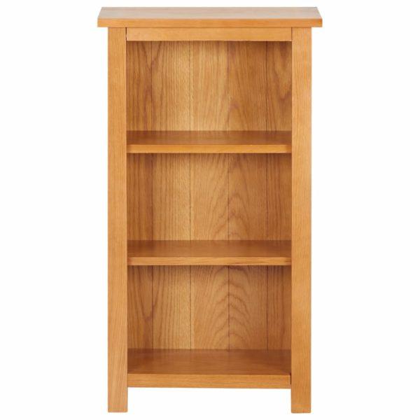 Bücherregal Schmal 45×22,5×82 cm Eiche Massivholz und MDF