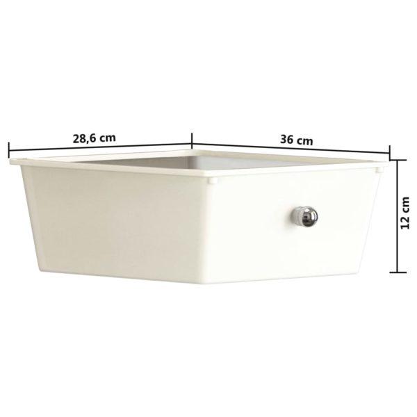 Schubladenwagen mit 4 Schubladen Weiß Kunststoff