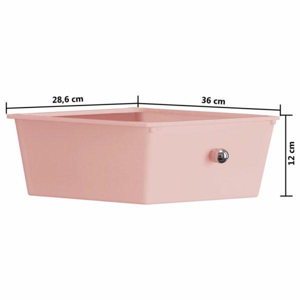 Schubladenwagen mit 4 Schubladen Rosa Kunststoff
