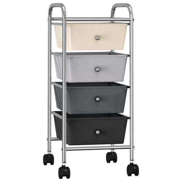 Schubladenwagen mit 4 Schubladen Ombre Kunststoff