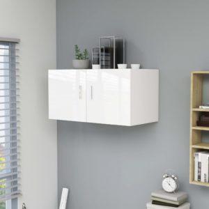 Wandschrank Hochglanz-Weiß 80 x 39 x 40 cm Spanplatte