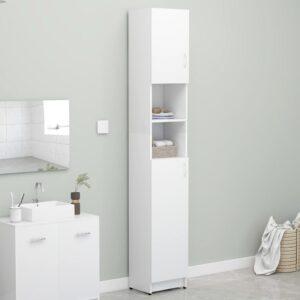 Badezimmerschrank Weiß 32×25,5×190 cm Spanplatte