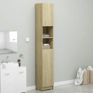 Badezimmerschrank Sonoma-Eiche 32×25,5×190 cm Spanplatte