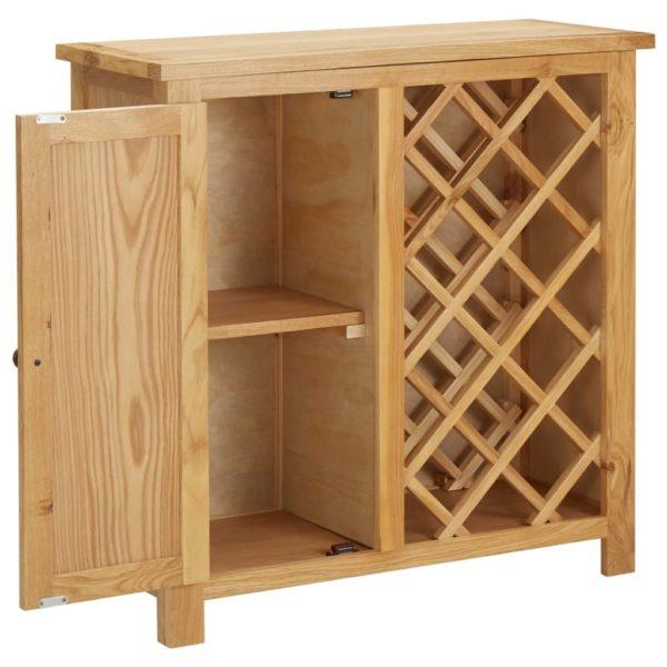 Weinschrank für 11 Flaschen 80 x 32 x 80 cm Eiche Massivholz