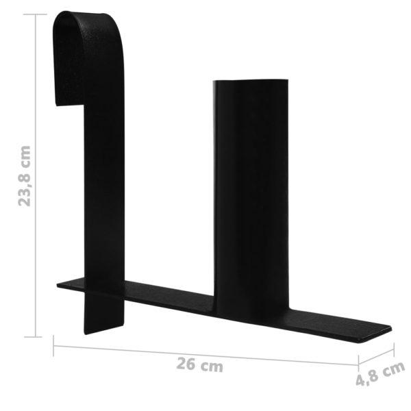 Sichtschutzstreifen-Abroller 2 Stk. Stahl