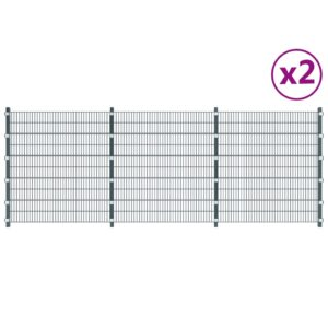 Zaunfelder 2 Stk. Eisen 6 x 2 m 12 m (Gesamtlänge) Anthrazit