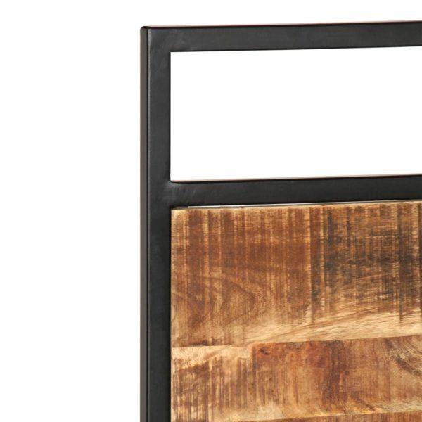 Bettgestell Mango und Kiefer Massivholz 120×200 cm