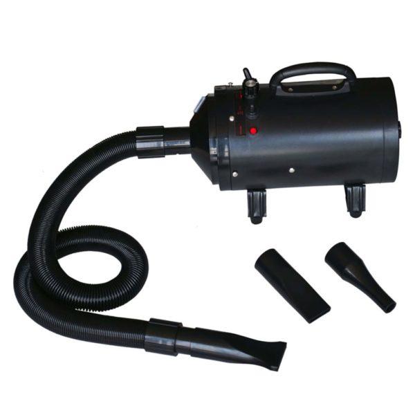 Haustier-Föhn mit Einzelmotor Ständer Schwarz Kunststoff Stahl