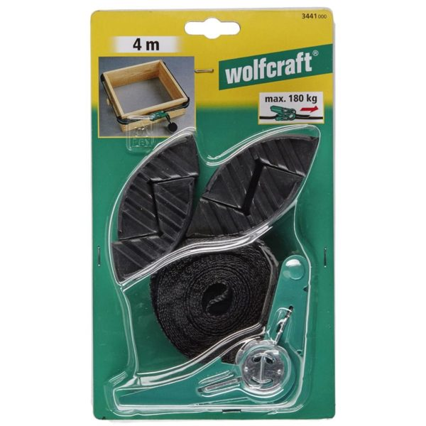 wolfcraft Ratschen-Bandspanner mit 4 Backen 4 m 3441000