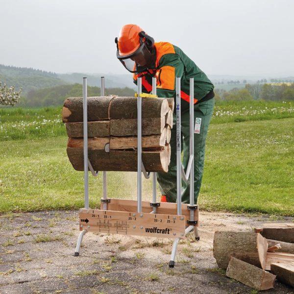 wolfcraft Sägebock für Kettensägen 5121000