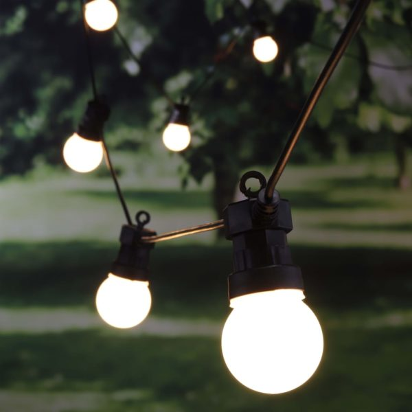 HI LED-Lichterkette mit 20 Lampen 1250 cm
