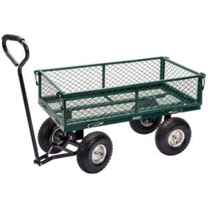 Draper Tools Gartenwagen Stahlgitter 86,5×46,5×21 cm Grün und Schwarz