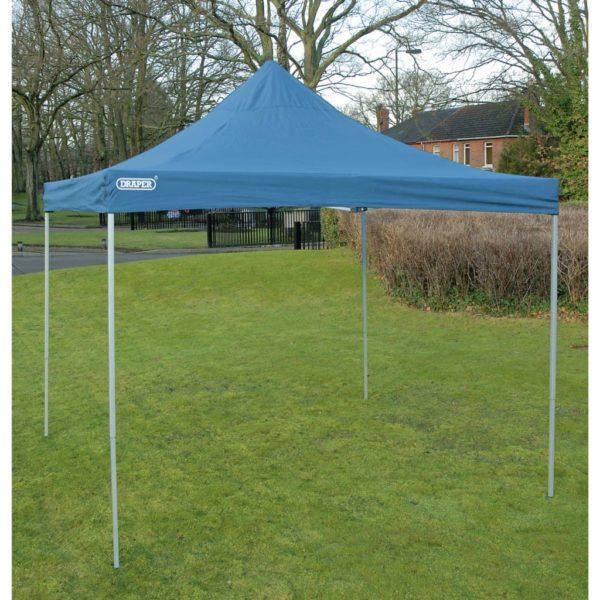 Draper Tools Ausziehbarer Gartenpavillon 3×3 m Blau