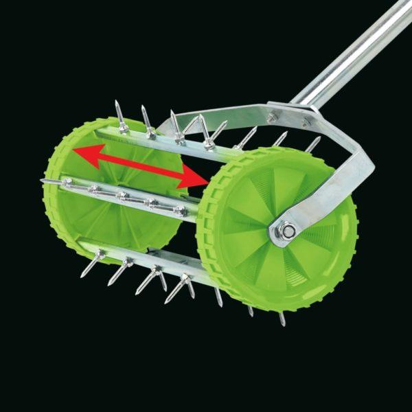 Draper Tools Rollender Rasen-Vertikutierer 450 mm Grün