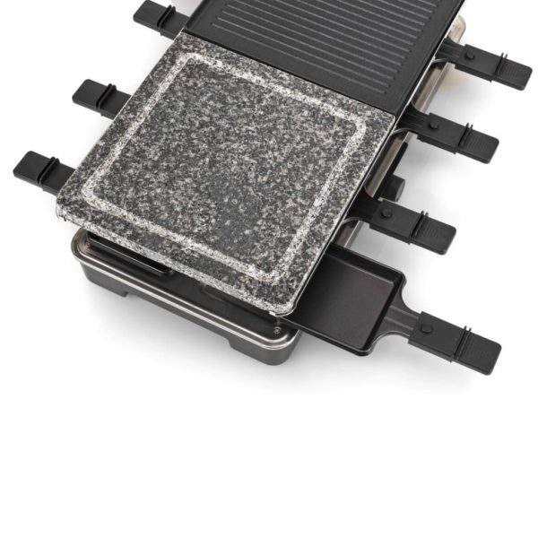 Tristar 8-Personen-Raclette-Steingrill 1400 W 23 x 23 cm Schwarz
