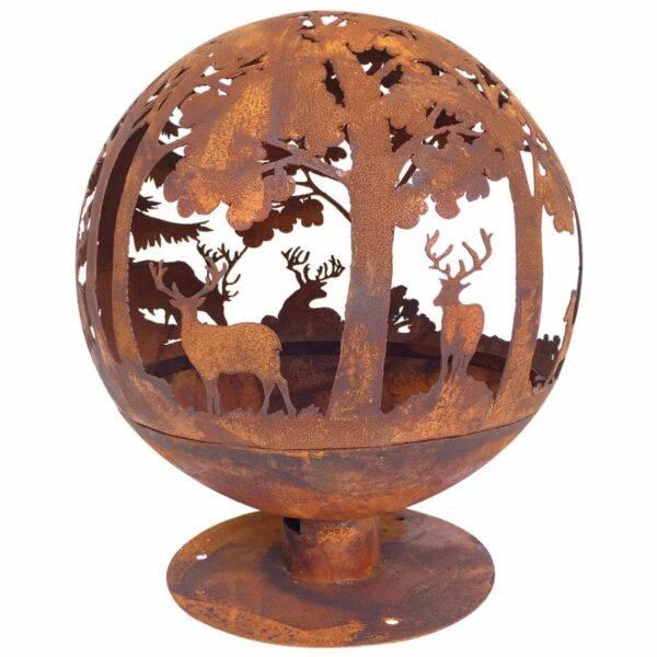 Esschert Design Feuerball Laser-geschnitten 57,5×57,5×66 cm Rost-Optik FF261