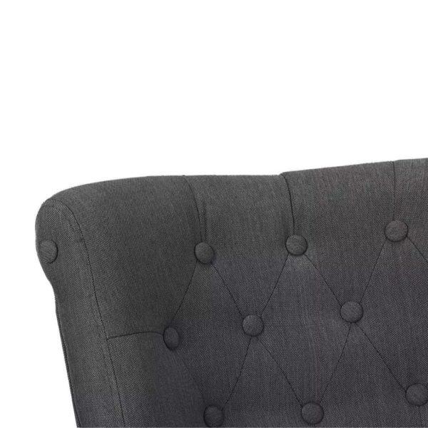 Französische Sessel 2 Stk. Grau Stoff