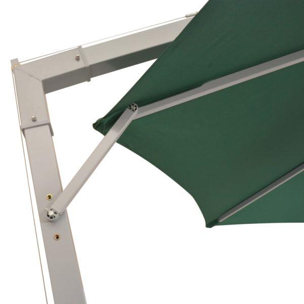 Sonnenschirm Ampelschirm 350 cm Grün Aluminiummast
