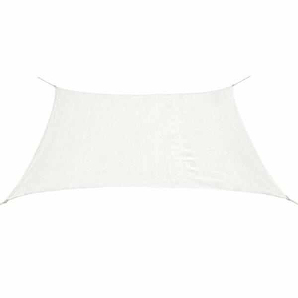Sonnensegel HDPE Quadratisch 3,6 x 3,6 m Weiß